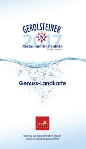 gerolsteiner restaurant bestenliste 2017 by gerolsteiner