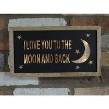 i you to the moon and back led light up wall plaque