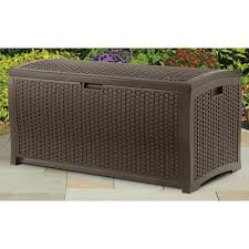 suncast dbw7300 mocha wicker resin deck box 73 gallon reviews
