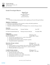 Cna Resume Examples With No Experience Samples Sample Entry Level Objective Caregiver