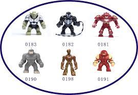 SN 30PCS Big Guardians Of Galaxy Groot Juggernaut Venom Lazy Rhino Hulk Buster Toys Building Action Bricks Toy In Blocks From Hobbies On