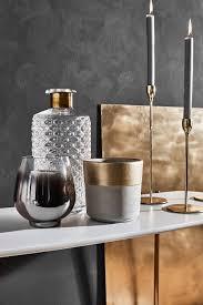 eleganz die wohnaccessoires in grau und gold strahlen