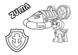 Paw Patrol Coloring Pages Rubble Book Plus S Hovercraft Vehicle