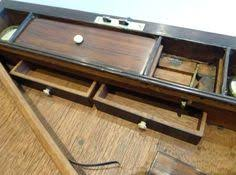 levenger wooden unfolding hinged writing box lap desk with 3
