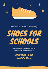 Yellow And Blue School Fundraising Event