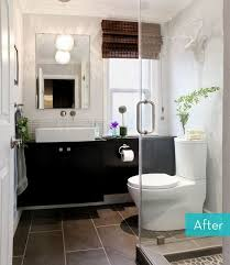 Small Bathroom Window Curtains Australia by Before And After Small Bathroom Makeovers Big On Style