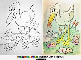 Funny Children Coloring Book Corruptions 4