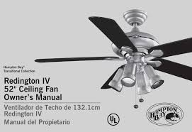 Hampton Bay Ceiling Fan Install by Replace Ceiling Fan Light Kit Bobded Or Attached To Cap