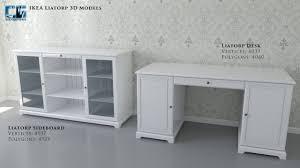 ikea liatorp desk grey 3d model of realistic ikea liatorp white 3d model 3d modeling