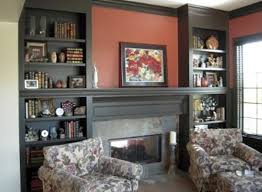 Living Room With Fireplace And Bookshelves by Indianapolis Custom Bookcases And Bookshelves Innovative