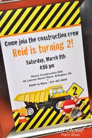 100 Truck Birthday Invitations Construction Construction