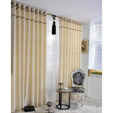sewing simple curtains in light yellow for living room of shape