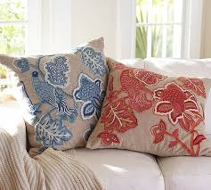 NEW Lilian Palampore Embroidered Cushion Covers | Pottery Barn ... Sleek Rolled Arm Small Living Room Fniture 2 Removable Back 7 Ways To Decorate With White Totes Bubble Umbrella Contemporary Outdoor Cushions And Pillows By Pottery Barn Pillow Bright Colors Stripes Polka Sunbrella Saratoga Inoutdoor 12x18 Ebay The Best Of Bed And Bath Ideas New Of Gallery Katrea Print Cushion Deck Pinterest Decking Pergola Fire Pit Sunny Side Up Blog Snowflake In The Air Inoutdoor Ca Spooky House Projects