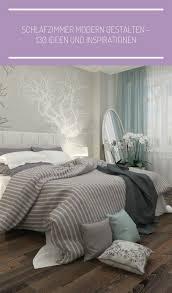 ideen schlafzimmer gestaltung grau weiß wandgestaltung