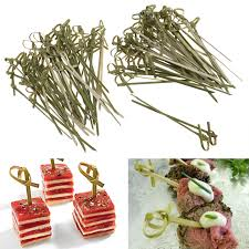 canap made in design 100pcs 10cm bamboo knot skewers cocktail sticks ideal canape buffet
