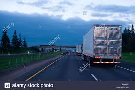 100 Arrow Trucks The Convoy Of Semi Trucks With Reefer Trailers On Flat Like An Arrow