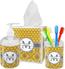 Yellow And Gray Bathroom Accessories by Damask U0026 Moroccan Bathroom Accessories Set Personalized Potty