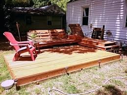 Wood Pallet Deck Garden Ideas Decks Outdoor Bar