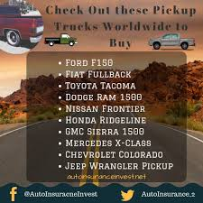 10 Best Pickup Truck Worldwide To Buy In 2018 | Auto Insurance Invest