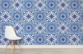 blue and white portuguese tiled wallpaper murals wallpaper