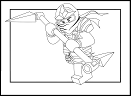 Ninja Lego Coloring Pages For Kids