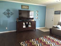 Teal Color Living Room Decor by Our Living Room Paint Color Open Seas From Sherwin Williams And
