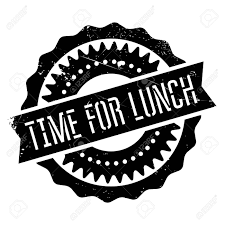 Time For Lunch Stamp Grunge Design With Dust Scratches Effects Can Be Easily Removed