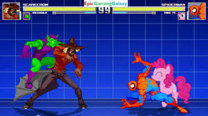 The Spectacular Spider Man Final Curtain Youtube by Spider Man And Pinkie Pie Vs Scarecrow And Green Goblin In A Mugen