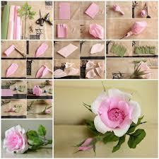 How To Do Rose Flower With Paper Diy Beautiful Pink Crepe