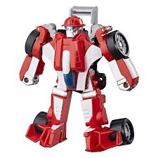 100 Rescue Bots Fire Truck Playskool Transformers 13cm Figure Heatwave The Bot