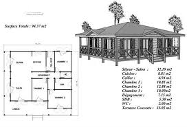 plan maison en bois gratuit plan maison bois modéle pin sylvestre avec terrasse coursive