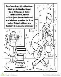 Second Grade Holidays Seasons Worksheets Charles Dickens A Christmas Carol Coloring Page