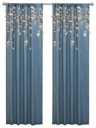 Lush Decor Window Curtains by Perfect Single Panel Window Curtain Ideas With Flower Drops Window