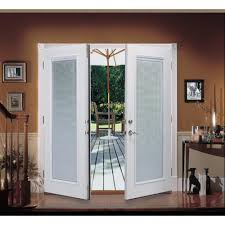 Outswinging French Patio Doors by Shop Reliabilt Reliabilt French Patio Door Steel Blinds French