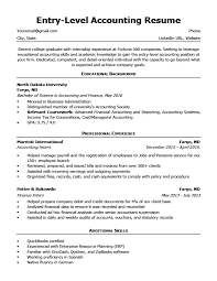 Entry Level Accounting Resume Sample MSWord Download