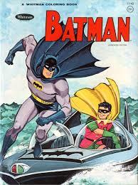 1966 Adventures Of Batman Whitman Coloring Book