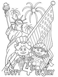 Festive Fourth Of July Printable Coloring Page