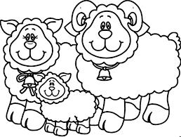 Carson Dellosa Family Sheep Coloring Page