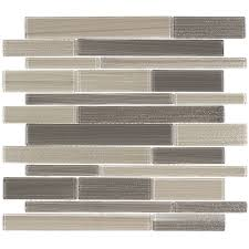 elida ceramica camel linear mosaic glass wall tile common 12 in