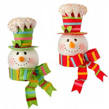 Raz Artificial Christmas Trees by Snowman Christmas Tree Topper Christmas Lights Decoration
