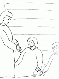 Bible Story Coloring Page For Peter Escapes From Prison