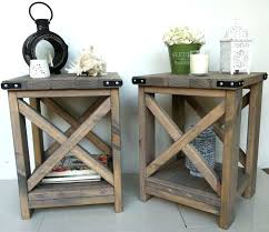 Rustic Side Table S Diy Bedside Tables Canada Coffee With Regard To Inspirations 14
