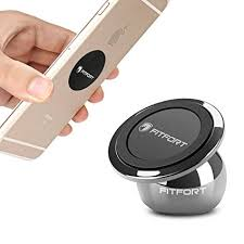 Universal Magnetic Phone Holder FITFORT 360°Rotation Magnetic Car Mount Holder for Cell Phone