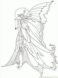 Advanced Challenging Fairy Coloring Pages For Grown Ups