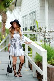 Orlando Florida Fashion Blogger Styles Cupcakes And Cashmere Shirt Dress Stuart Weitzman Gladiator Sandals