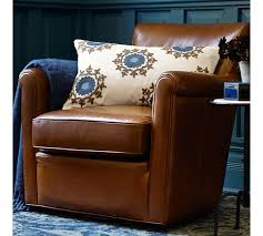 Pottery Barn Seagrass Club Chair by Irving Leather Swivel Armchair Pottery Barn Home Sweet Home