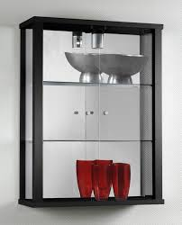 Wall Cabinet And Shelve Collectors Display Six Glass Intended For