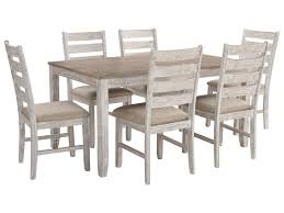 Skempton Relaxed Vintage 7-Piece Dining Set With Two-Tone Finish By  Signature Design By Ashley At Furniture And ApplianceMart Costco Agio 7 Pc High Dning Set With Fire Table 1299 Piece Kitchen Table Set Mascaactorg Ding Room Simple Fniture Of Cheap Table Sets Annis 7pc Chair Fair Price Art Inc American Chapter 7piece Live Edge Whitney Piece Trestle By Liberty At And Appliancemart Intercon Belgium Farmhouse Rustic Kitchen Island Avon Oval Dinette Kitchen Ding Room With 6 Round With Chairs 1211juzxspiderwebco 9 Pc Square Dinette Ding Room 8 Chairs Yolanda Suite Stoke Omaha Grey