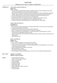 Download Tool Technician Resume Sample As Image File