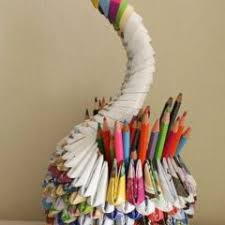 Recycled Paper Crafts Step By